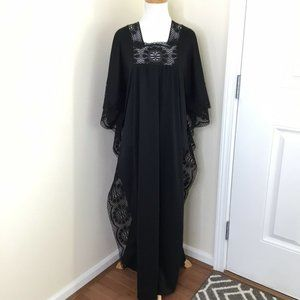 1970's Great Entertainer Sears MuuMuu Dress Black